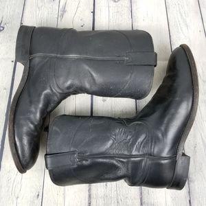 JUSTIN | Jackson Black roper cowhide cowboy boots